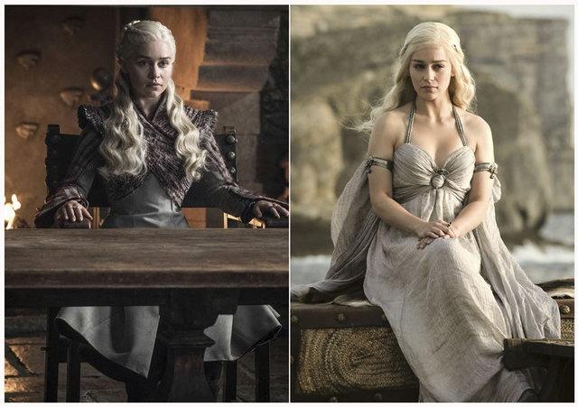 Dünya çapında milyonlarca izleyicisi bulunan Game of Thrones'un 8. sezonu başladı. Geçtiğimiz yıl içinde yayınladığı 7. sezonuyla birlikte, hemen her bölümde rekor kırmayı başaran dizinin final sezonu 14 Nisan'da ekrana gelmeye başladı. Öte yandan Game of Thrones oyuncuları, senede bir sezon yayınlanması sebebiyle ilk günden bu yana inanılmaz değişimler gösterdiler. İşte Game of Thrones karakterlerinin değişimleri..