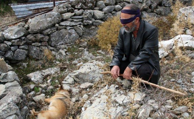 Görme engelli adamın köpeğini zehirlediler