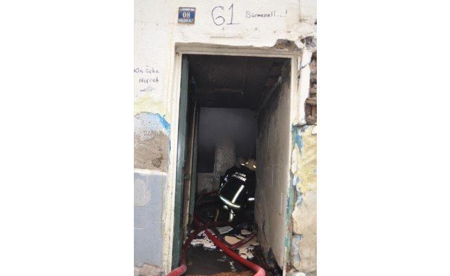 Metruk binada çıkan yangında yanacaktı