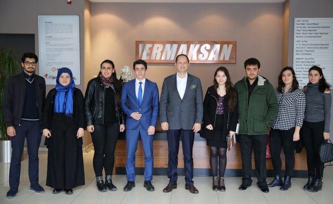 Üniversite Öğrencilerinden Ermaksan'a Ziyaret