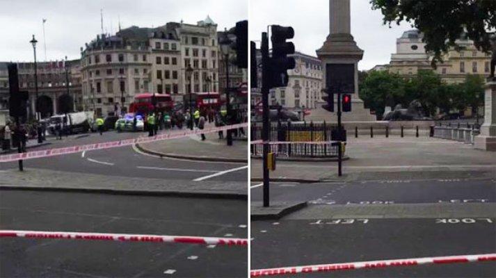 Londra'da alarm, Trafalgar Meydanı boşaltıldı
