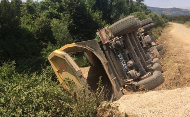 Bursa'da yol inşaatında feci kaza!