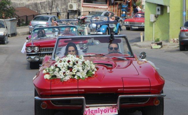 Bursa'da böyle düğün konvoyu görülmedi