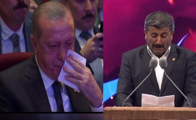 Cumhurbaşkanı Erdoğan gözyaşlarına boğuldu!
