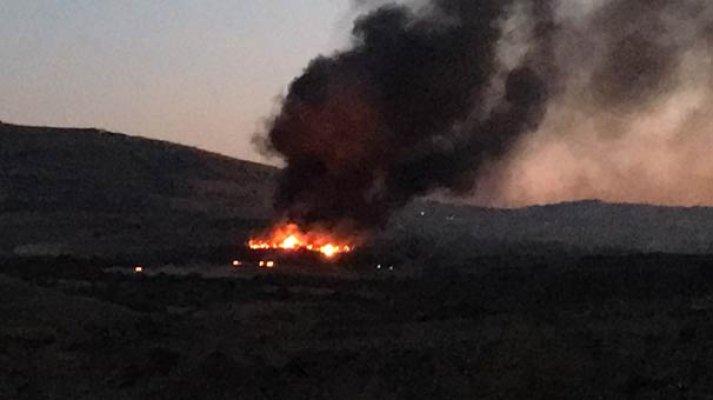 Kilis'te askeri personelin kaldığı bölgede yangın