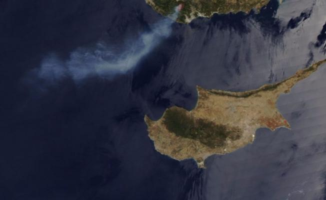 Orman yangını uzaydan bile görüldü