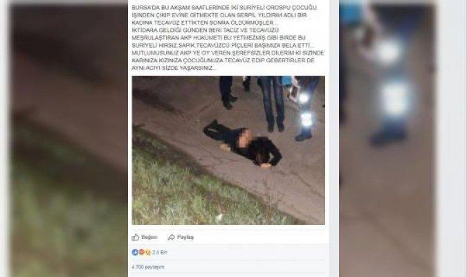 Bursa'da 'tecavüz edilip öldürüldü' iddiasına soruşturma!