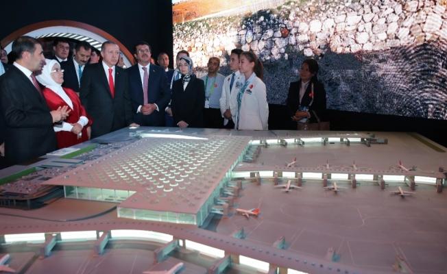 Erdoğan EXPO 2017 Fuar Alanını ziyaret etti