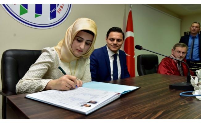 Bursa'da ilk resmi dini nikah kıyıldı