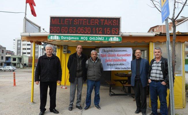 Bursalı taksicilerden Afrin operasyonuna destek