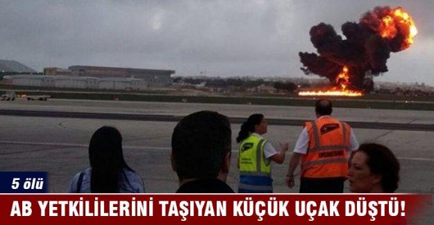 AB yetkililerini taşıyan küçük uçak düştü