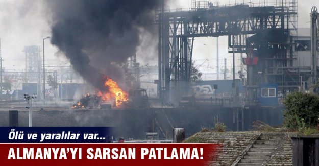 Almanya'da fabrikada patlama: 1 ölü, 6 yaralı, 6 kayıp