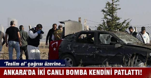 Ankara'da 2 canlı bomba operasyonda kendilerini patlattı