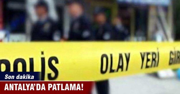 Antalya- Kemer yolunda patlama