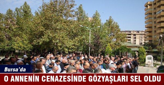 Bursa'da 6 kişiyi hayata bağlayan annenin cenazesinde gözyaşları sel oldu