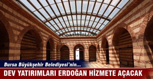 Bursa'da Büyükşehir'in 759 milyon liralık yatırımlarını Erdoğan hizmete açacak