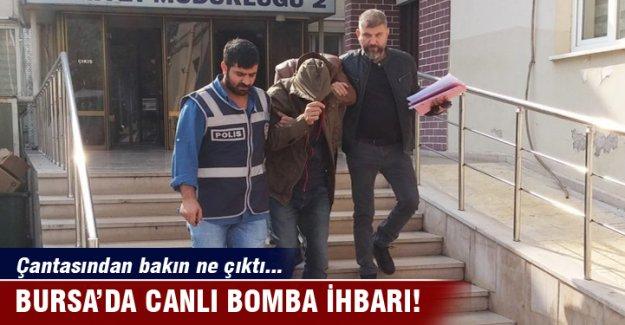 Bursa'da canlı bomba sanıldı, çantasından bakın ne çıktı...