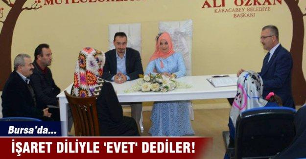 Bursa'da çok farklı 'evet'