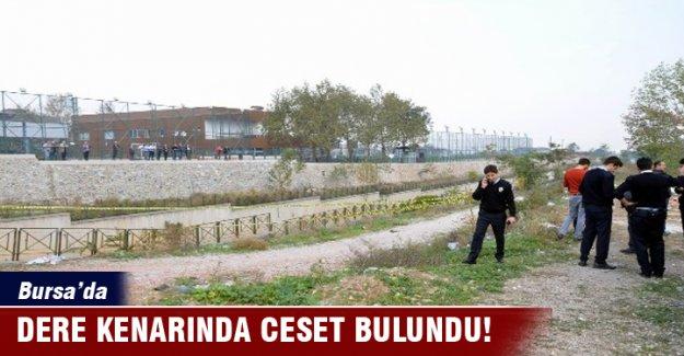 Bursa'da dere kenarında ceset bulundu!