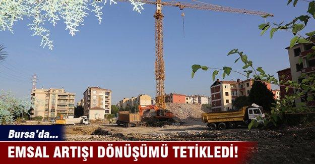 Bursa'da emsal artışı dönüşümü tetikledi