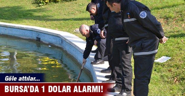 Bursa'da göle atılan 1 dolarlık banknotlar polisi alarma geçirdi