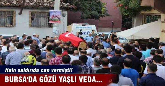 Bursa'da gözü yaşlı veda...