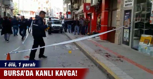 Bursa'da kanlı kavga: 1 ölü, 1 yaralı