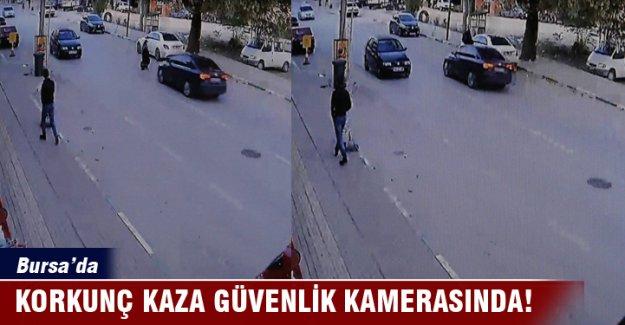 Bursa'da kaza dehşeti kameraya böyle yansıdı...