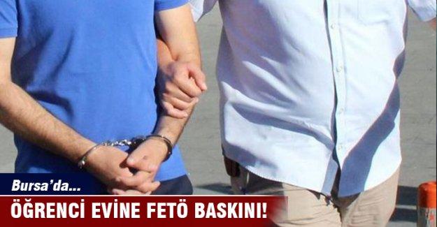 Bursa'da öğrenci evine FETÖ baskını!