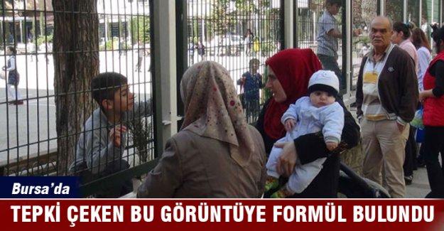 Bursa'da okulda tepki çeken bu görüntüye bu formül bulundu