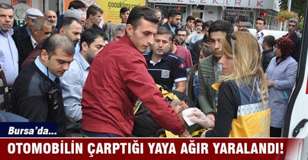 Bursa'da otomobilin çarptığı yaya ağır yaralandı