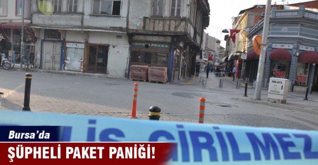 Bursa'da şüpheli paket paniği!