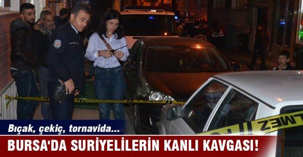 Bursa'da Suriyelilerin kanlı kavgası!