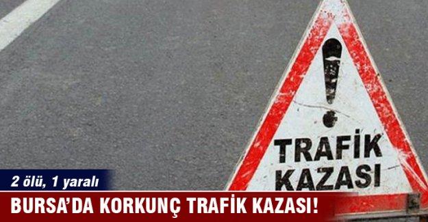 Bursa'da trafik kazası can aldı: 2 ölü