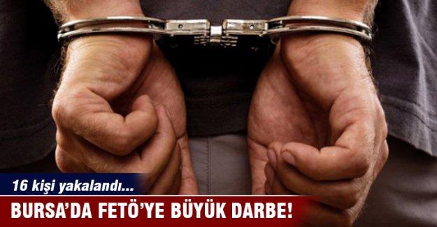 Bursa merkezli FETÖ operasyonunda 4 ilde 16 kişi yakalandı!