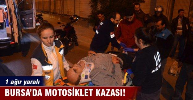 Bursa Mudanya'da trafik kazası 1 kişi ağır yaralı