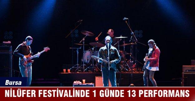 Bursa Nilüfer Festivalinde 1 günde 13 performans
