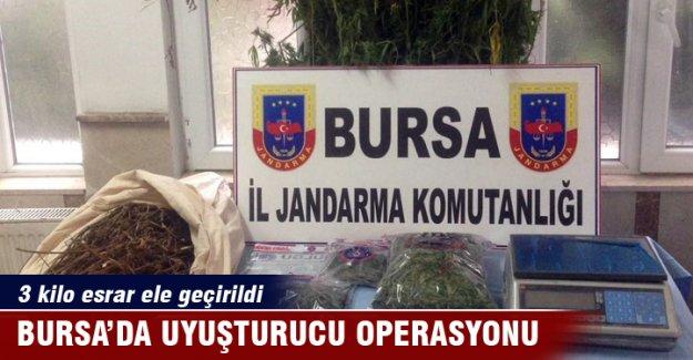 Bursa'da uyuşturucu operasyon