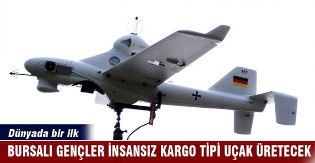 Bursalı liseli gençler insansız kargo tipi uçak üretecek