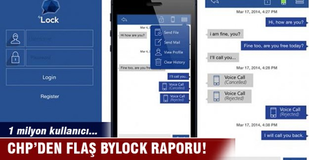 CHP'den flaş Bylock raporu: 1 milyon kullanıcı...