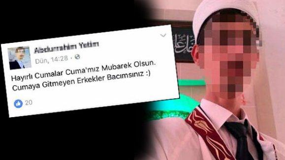 Cuma mesajıyla tepki çeken o imam açığa alındı