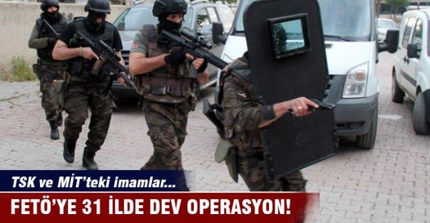 FETÖ'nün TSK ve MİT'teki imamlarına yönelik 31 ilde operasyon: 26 gözaltı
