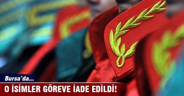 HSYK Bursa'da göreve iade kararı verdi
