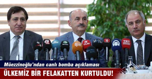 Müezzinoğlu Bursa'da konuştu: Ülkemiz bir felakatten kurtuldu