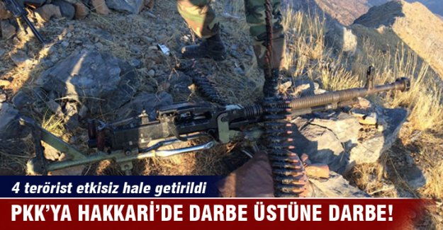 PKK'ya Hakkari'de darbe üstüne darbe!