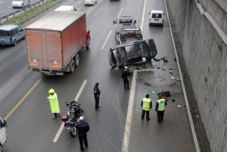 Sarıyer'de korkutan kaza