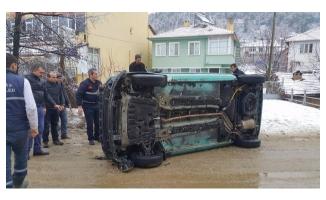 Bursa'da cenaze yolunda kaza!