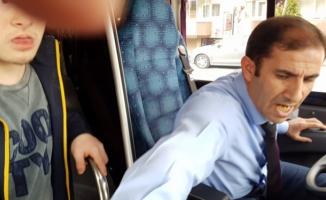 Bursa'daki özel halk otobüsünde skandal olay