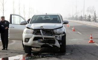 Korkunç kaza! 15 araç birbirine girdi