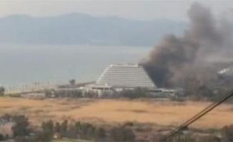 5 yıldızlı otelde korkutan yangın!